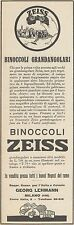 Z3254 Binoccoli Grandangolari ZEISS - Pubblicità d'epoca - 1929 Old advertising
