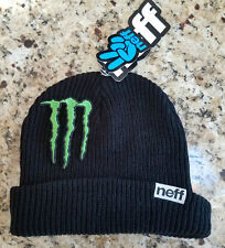 MONSTER ENERGY ATHLETE ONLY WINTER TEAM BEANIE HAT SNOWBOARD SKI NEFF XGAMES