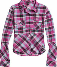 New! Fox Racing Ladies Large After School Shirt Button up Fuchsia 100% cotton