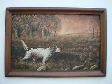 Great Vintage Primitive Folk Art Painting of a Pointer Dog or Hunting Dog