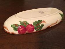 """Vintage FRANCISCAN WARE APPLE PATTERN 10"""" Oval Celery Relish Serving Bowl/Dish"""