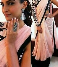 Bollywood Designer Party Wear Pink  Peach  Color Saree