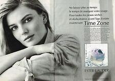 PUBLICITE ADVERTISING 025  1991  ESTEE LAUDER  cosmétiques  TIME ZONE  ( 2p)
