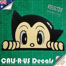 Astroboy Astro Boy Peek Peeking Stare REFLECTIVE Vinyl Car Decal Sticker