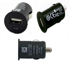 BLACK USB CAR CHARGER ADAPTER FOR iPHONE iPOD SAMSUNG KINDLE SAT NAV GALAXY HTC