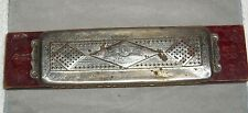 ANTIQUE M.HOHNER BEST HAMMERED REEDS DOUBLE SIDED HARMONICA MADE IN GERMANY 1917