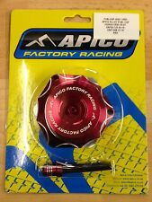HONDA  CRF 150 R  2007-2017  APICO ALLOY FUEL PETROL CAP & VENT PIPE RED