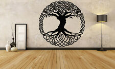 Wall Room Decor Art Vinyl Sticker Mural Decal Celtic Ancient Pattern Tree FI915