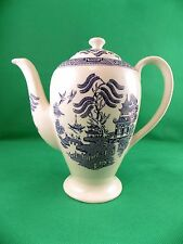 English Ironstone Pottery Old Willow Coffee Pot