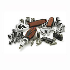 Craftsman 46-pc Stubby Mechanics Tool Set Wrench Ratchet Socket Adapter CRV Bit