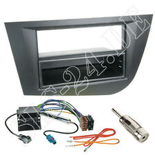 Seat Leon 2-DIN Autoradio Radioblende+ ABLAGEFACH ISO Kabel Antenne Stecker SET