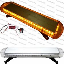 "33"" 56 LED Amber Emergency Warning Truck Strobe Light Tow Roof Bolt Bar Yellow"