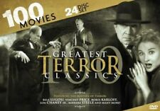 GREATEST TERROR CLASSICS 100 MOVIES New Sealed 24 DVD Set