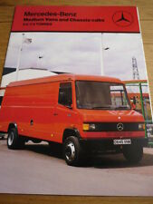 MERCEDES Benz medium Vans (3,56 ton à 7.5 tonne) 1986/87 brochure JM