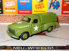 1949 STUDEBAKER 2R PICKUP TRUCK ARMY GREEN 1/64 SCALE LIMITED EDITION PH