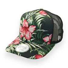 NEW ERA FLORAL TROPICAL ADJUSTABLE TRUCKERS CAP