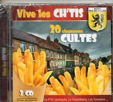 DOUBLE CD VIVE LES CH'ts 20 CHANSONS CULTES AVEC LE P'TIT QUINQUIN  NEUF SCELLE