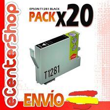 20 Cartuchos de Tinta Negra T1281 NON-OEM Epson Stylus SX130