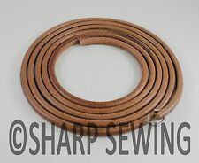 "72""  LEATHER BELT SINGER TREADLE SEWING MACHINE - 1/4"" (6mm) ROUND"