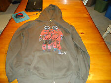MENS ANALOG SPACEMAN FULL ZIP HOODIE  XXL BROWN  NWOT