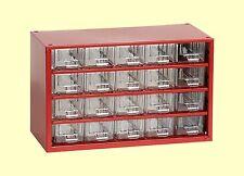 Kleinteilemagazin mit 20 Schubladen Werkstattmagazin Sortimentskasten rot