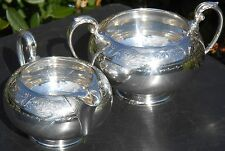 LOVELY ANTIQUE MILK JUG & SUGAR BOWL - WALKER & HALL SILVER PLATED