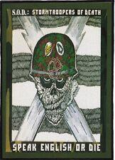 SOD BACKPATCH / SPEED-THRASH-BLACK-DEATH METAL