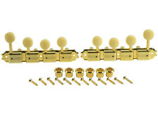 Kluson Supreme F Type Gold Mandolin tuners, 18:1 Ratio, Bone Buttons