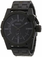 Diesel DZ4235 Black and Grey Dial Ion Plated Watch Brand New in Box Authentic