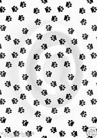 BLACK PAW PRINTS ~ EDIBLE Rice Paper / Icing Decorations Cake Toppers A4 Sheet