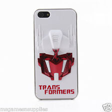 White / Red 3D Transformers Optimus Prime iPhone 5 5s 3D Plastic Full Back Case