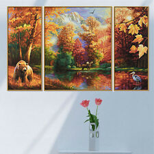 DIY 5D Diamond Painting Autumn Forest Embroidery Cross Stitch Crafts Home Decor
