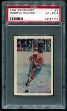 1952 Parkhurst MAURICE ROCKET RICHARD #1  HOF 2ND YEAR CARD   PSA 4 VG-EX BEAUTY