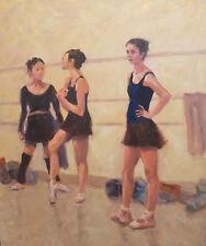 Tulsa Ballet Dancers at Rest Tulsa Ballet OK oil on canvas  by Margaret Aycock