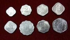 India  Paisa 1 2 3 5 10 & 20 Paise Aluminium 8 Coins Set