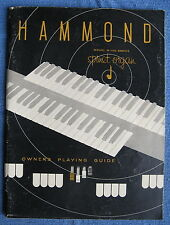 Hammond M-100 Spinet Organ Owner's Playing Guide / Owners Manual - (c)1961