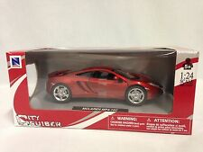 McLaren MP4-12C 1:24 Scale Diecast Collectible, New Ray Toys City Cruiser, Red