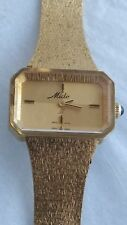 Rare 1965 Mido II Gold toned Mechanical Watch Mesh Band 17 Jewel Swiss RUNS!