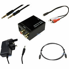 OTTICO DIGITALE TOSLINK a 3.5mm Fono RCA Convertitore audio analogico KIT COMPLETO