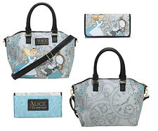 Disney Alice in Wonderland Loungefly Purse Shoulder Bag Satchel & Wallet NWT