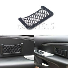 Car Seat Side Back Mesh Interior Storage Net Bag Pocket Phone Holder Black 1PC