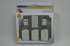 Wireless Alarm System 100dB CHIME/ALARM LED 433MHz Remote Control. Door/Window