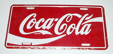 Vintage Coca Cola Coke FULL-SIZE METAL LICENSE PLATE MIP - Sealed