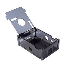 Cool Black Raspberry Pi B Case Enclosure Gloss Transparent Acrylic Cover Shell