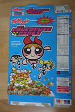 Vintage Kellogg's The PowerPuff Girls Cereal Box Empty Power Puff Fizzes Limited