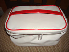 CLARINS WHITE COSMETIC MAKEUP TOILETRY BAG CASE NEW