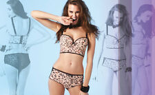 BRAND NEW TAG FREYA 1233 Piper Longline Padded Bra PINK FLORAL 36FF (US/UK)