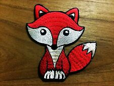 New Cute Red Fox Wolf  Animal  Embroidered Applique DIY Iron On Patch Badge