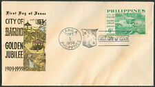 1959 Philippines CITY OF BAGUIO GOLDEN JUBILEE 1909-1959 First Day Cover - E