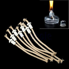 7 Ceramic Holders for Tiki torch Wine bottle oil lamp W/ COTTON Kerosene Wick HM